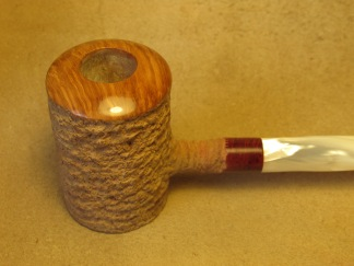 Rasted handcut pipes, RH1065 Poker pipe (12)