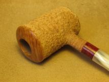 Rasted handcut pipes, RH1065 Poker pipe (9)