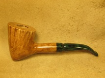 Rasted handcut pipes Artistic Pipe with Green Stem (2)