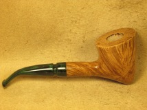 Rasted handcut pipes Artistic Pipe with Green Stem (3)