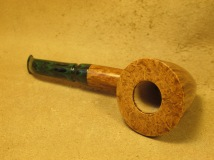 Rasted handcut pipes Artistic Pipe with Green Stem (5)
