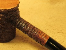 Rasted handcut pipes Brown Rusticated Poker Pipe (3)