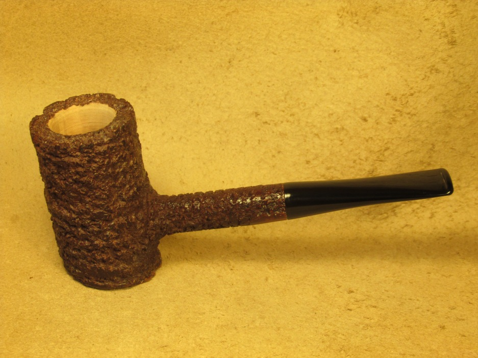 Rasted handcut pipes Brown Rusticated Poker Pipe (4)
