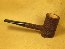 Rasted handcut pipes Brown Rusticated Poker Pipe (5)