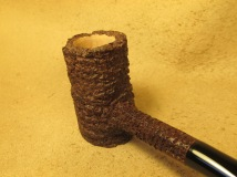 Rasted handcut pipes Brown Rusticated Poker Pipe (6)