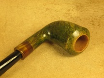 Rasted handcut pipes RH1057 Army mount Green Pipe (4)