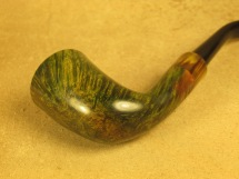 Rasted handcut pipes RH1057 Army mount Green Pipe (5)