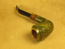 Rasted handcut pipes RH1057 Army mount Green Pipe (6)