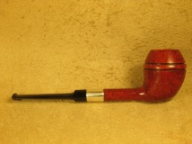 Rasted handcut Pipes RH1070 Elegant Red Pipe with Silver (3)