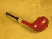 Rasted handcut Pipes RH1070 Elegant Red Pipe with Silver (4)