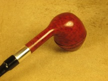 Rasted handcut Pipes RH1070 Elegant Red Pipe with Silver (6)