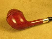Rasted handcut Pipes RH1070 Elegant Red Pipe with Silver (7)